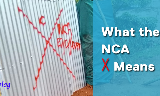 nca x sign meaning